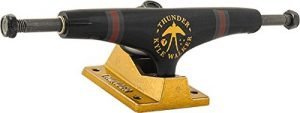 "Thunder Trucks Kyle Walker Scissortails High Black / Gold Skateboard Trucks - 149mm Hanger 8.5"" Axle (Set of 2)"