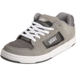Vans Men's Docket Skate Suede Leather Logo Shoes 11 M US Charcoal/White