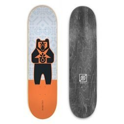 HABITAT SKATEBOARDS Grizzly Logo Skateboard Deck, 8, Colors may vary