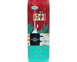 "Habitat Skateboards Twin Peaks Damn Good Coffee Skateboard Deck - 8.75"" x 32.875"""