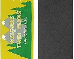 "Habitat Skateboards Twin Peaks Welcome Skateboard Deck - 8.25"" x 32.375"" with Jessup Griptape - Bundle of 2 items"