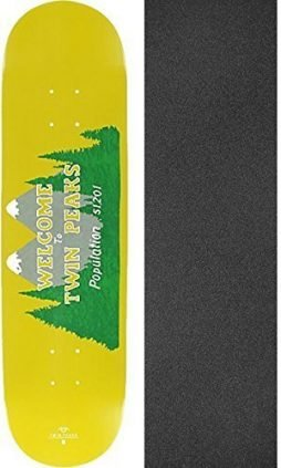 Habitat Skateboards Twin Peaks Welcome Skateboard Deck – 8.25″ x 32.375″ with Jessup Griptape – Bundle of 2 items