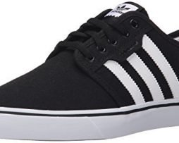adidas Originals Men's Seeley Skate Shoe,Black/White/Gum,11 M US