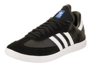 adidas Skateboarding Men's Samba ADV Core Black/Footwear White/Bluebird Athletic Shoe 10