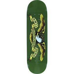 "Anti Hero Skateboards Classic Eagle Green Skateboard Deck - 8.38"" x 32.25"""
