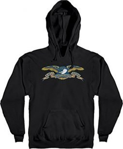 Anti Hero Skateboards Eagle Black Men's Hooded Sweatshirt - Small