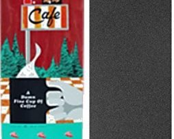 "Habitat Skateboards Twin Peaks Damn Good Coffee Skateboard Deck - 8.75"" x 32.875"" with Jessup Griptape - Bundle of 2 items"