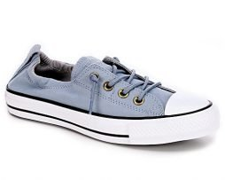 Converse Chuck Taylor All Star Shoreline Blue Skate/Ash Grey Lace-Up Sneaker - 7 B(M) US