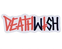 "Deathwish Skateboard Sticker Graffiti Logo Red/Black 6.5""x2.5"""