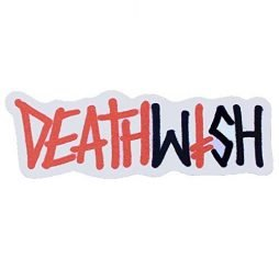 Deathwish Skateboard Sticker Graffiti Logo Red/Black 6.5″x2.5″