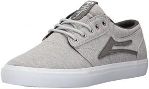 Lakai Griffin Skate Shoe, Grey Textile, 7 M US