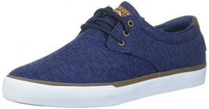 Lakai Men's Daly Skate Shoe, Navy Textile, 11 M US