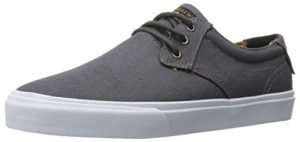 Lakai Men's Daly Skateboarding Shoe, Charcoal Textile, 9 M US