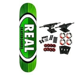 """Real Skateboard Complete 50-50 Oval Green 8.06"""""""