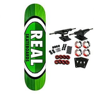 Real Skateboard Complete 50-50 Oval Green 8.06""