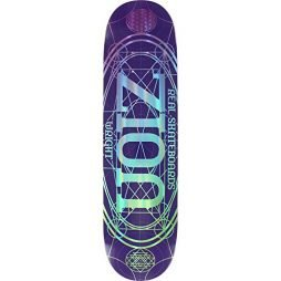 """Real Wright Pro Oval Skateboard Deck -8.06 Purple DECK ONLY (Bundled with FREE 1"""" Hardware Set)"""