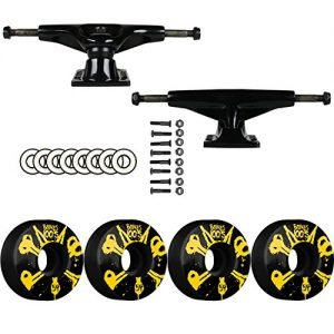 Tensor SKATEBOARD PACKAGE Magnesium 5.25 Black Trucks Bones 54mm 100's V4 Wheels