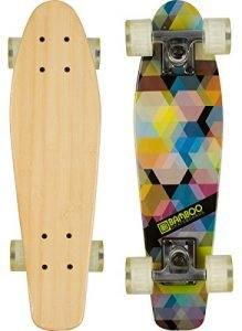 "Bamboo Skateboards Complete Mini Cruiser Skateboard with Kaleidoscope Design, 6"" x 22.5"""