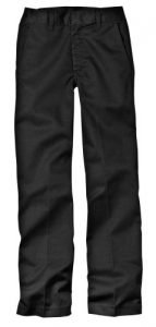 Dickies Big Boys' Classic Flat Front Pant, Black, 20 Regular