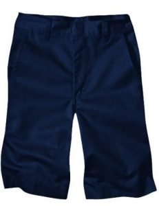 Dickies Boys' Husky Classic Fit 8-20 Flat Front Short - School Uniform, Dark Navy, 18