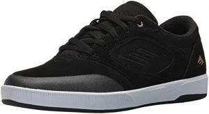 Emerica Men's Dissent Skate Shoe, Black/White/Gold, 13 Medium US