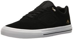 Emerica Men's Reynolds 3 G6 Vulc Skate Shoe, Black/White/Gold, 9.5 Medium US