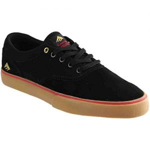 Emerica Provost Slim Vulc Skate Shoe,Black/Gum,5 M US