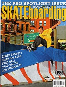 Transworld Skateboarding Magazine december 2007 THE PRO SPOTLIGHT ISSUE Zered Bassett OMAR SALAZAR Fred Gall CHAD BARTIE Bob Burnquist JACK CURTIN Nick Fiorini THE GUY WHO MADE IMPOSSIBLE TRICK