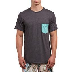 Volcom Men's Heather Short Sleeve Pocket Tee