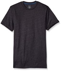 Volcom Men's Solid Modern Fit Short Sleeve Shirt, Heather Black, Medium