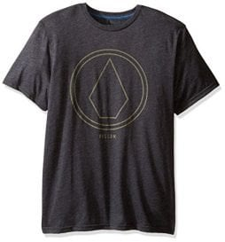 Volcom Men's Pin Line Stone Modern Fit Short Sleeve Shirt