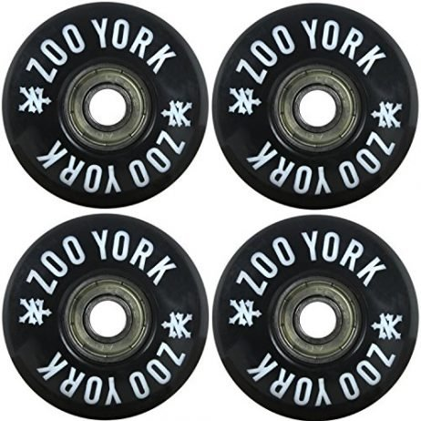 Zoo York Skateboard Wheels 52mm 99aWith Bearings and Spacers Assembled
