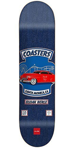 Chocolate Berle Rider Patch Skateboard Deck – Blue – 8.0in x 31.5in