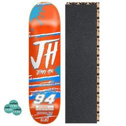 "Chocolate Jerry Hsu Braaaa 8.0"" x 31.875"" Skateboard Deck with Grip Tape and Stickers"