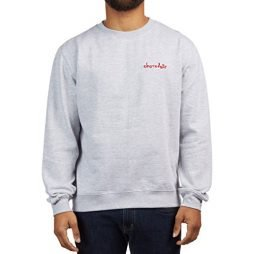 Chocolate Mini Chunk Embroidered Crew Sweatshirt – Gunmetal Heather