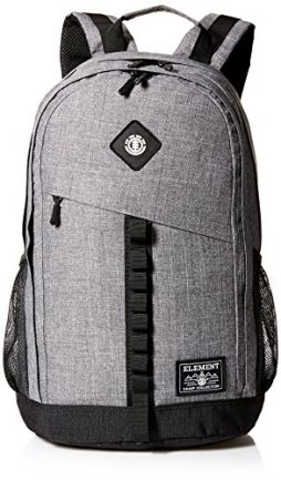 Element Young Men's Cypress Backpack With Laptop Sleeve Accessory, grey grid heather, ONE