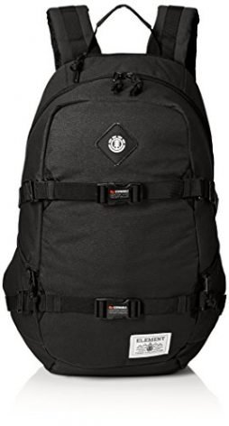 Element Young Men's Jaywalker Skate Backpack With Straps and Laptop Sleeve Accessory, JAYWALKER FLINT BLACK L, ONE
