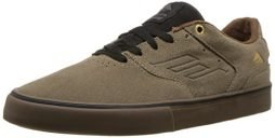 Emerica Men's The Reynolds Low Vulc Skate Shoe, Olive/Black/Gum, 10 Medium US