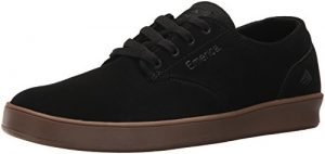 Emerica Men's The Romero Laced Skate Shoe, Black/Charcoal/Gum, 11 Medium US