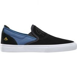 Emerica Men's Wino G6 Slip-On Skate Shoe, Black/Blue, 9.5 Medium US