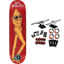 "Foundation Skateboard Complete MERLINO MAN BEAST 8.0"" (ASSORTED COLORS)"