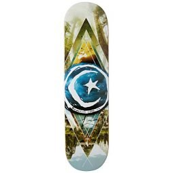 Foundation Star and Moon Geometry Skateboard Deck – 8.125″