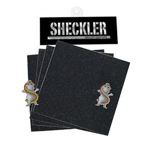 Grizzly Grip Tape Ryan Sheckler 4 DIE CUT SQUARES + STICKER Skateboard griptape