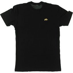 Habitat Skateboards Saber Tooth Embroidered Black Men's Short Sleeve T-Shirt – Medium