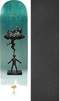 Habitat Skateboards Stefan Janoski Sculpture Skateboard Deck – 8.25″ x 32.125″ with Mob Grip Perforated Griptape – Bundle of 2 items