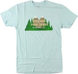 Habitat Skateboards Twin Peaks Welcome Light Blue Men's Short Sleeve T-Shirt – X-Large