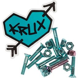 Krux Trucks Krome Phillips Head 7 Blue/1 Pink Skateboard Hardware Set - 1""