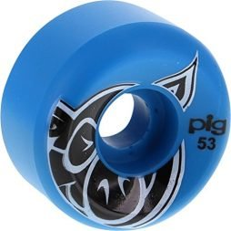 Pig Wheels Head Blue Skateboard Wheels – 53mm 101a (Set of 4)