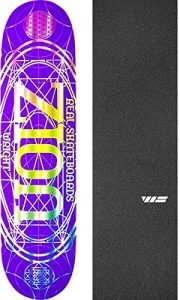 "Real Skateboards Zion Wright Pro Oval Purple Skateboard Deck - 8.06"" x 32"" with Jessup WS Die-Cut Griptape - Bundle of 2 items"