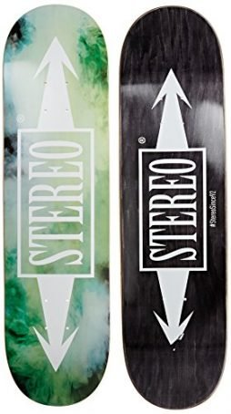 Stereo Skateboards Smokey Deck, 8.25-Inch, Green